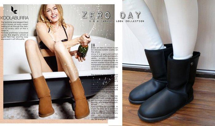 【零時差】專櫃真品Koolaburra Waterproof Faux Shearling Classic羊毛雪靴-霧黑