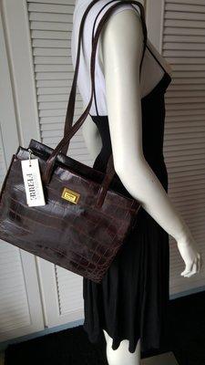 Gianfranco Ferre Crocodile Leather Shoulder Bag NO 28841