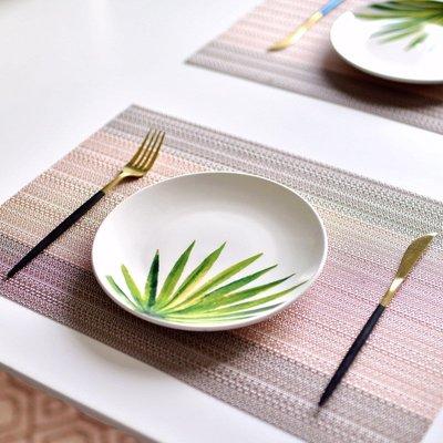 聚吉小屋 #熱賣#INS超火網紅款盤子家用8寸盤子高溫陶瓷菜盤平盤北歐風格清新綠植(價格不同 請諮詢後再下標)