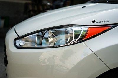 GuanLi 冠立 FORD FIESTA MK7.5 直上 角燈貼 貼膜 貼紙 diy 馬丁頭 下標前請先詢問是否有貨