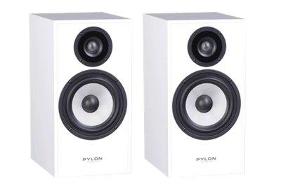 【昌明視聽】書架式喇叭 PYLON Pearl Monitor 音質細膩 亮面貼皮烤漆-白色 波蘭原裝進口公司貨
