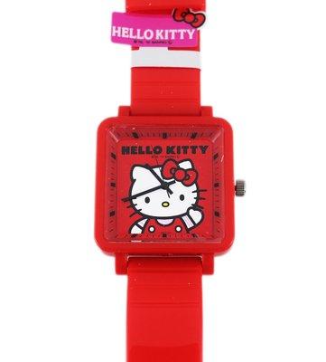 【卡漫迷】日本限定 Hello Kitty 手錶 ㊣版 女錶 凱蒂貓 卡通錶 紅 果凍錶 ~ 6 2 0元