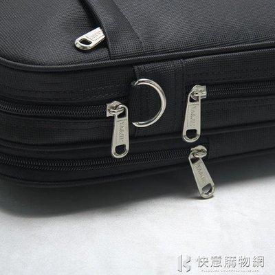 公事包公文包男帆布商務手提電腦包簡約大容量單肩側背包橫款工作業務包xbd免運