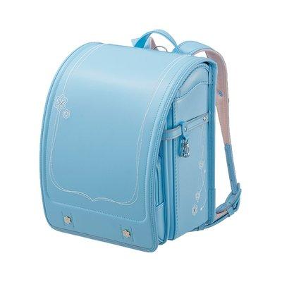 兒童書包seiban天使之翼MR系列護脊耐用花紋刺繡氣質女小學生書包天藍色