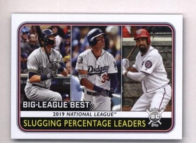 2020 Topps Big League #252 Anthony Rendon Cody Bellinger Christian Yelich