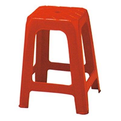 【在地人傢俱】19 簡單購-紅色塑膠四方椅/休閒椅/戶外椅/餐椅/工作椅/宴客椅 LC869-14