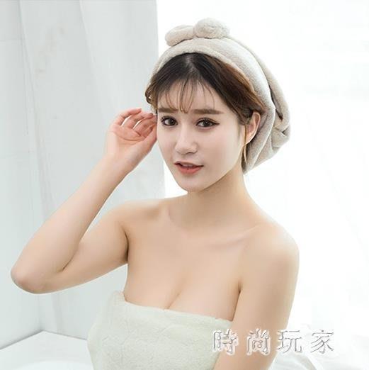 居家用珊瑚絨干髮巾擦頭巾吸水干髮帽加厚速干浴帽 ys7210