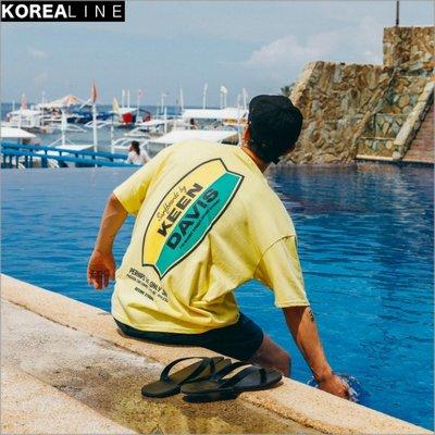 搖滾星球韓國代購 KEEN/DAVIS印刷短T / 3色 BS8008