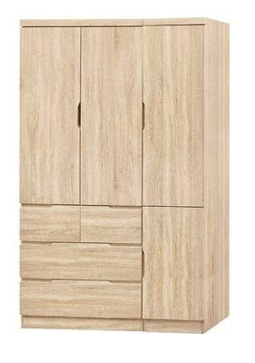 【南洋風休閒傢俱】精選時尚衣櫥 衣櫃 置物櫃 拉門櫃 造型櫃設計櫃- 原切橡木4*7尺衣櫥 CY188-47