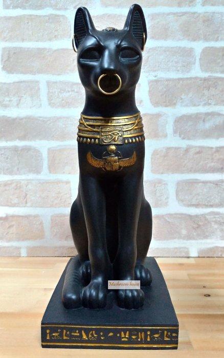 點點蘑菇屋 歐洲精品三耳環埃及貓神巴斯特擺飾品 Bastet 古典藝術品 埃及古文圖騰 古埃及文明 現貨 免運費