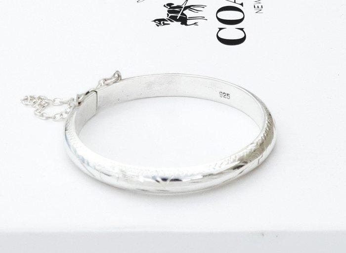 ☆~ 水晶森林手創館~☆國際標凖925純銀手鐲~寶貝彌月嬰兒純銀手環silver 925手鍊