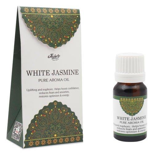 [綺異館]印度香氛精油 白茉莉花 10ml JAIN'S WHITE JASMINE pure 另售印度皂 印度香