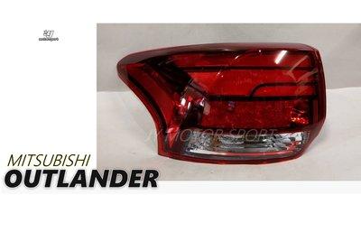 小傑--全新 三菱 OUTLANDER 16 17 18 19 原廠型 紅白 晶鑽 光條 LED 尾燈 一顆3000