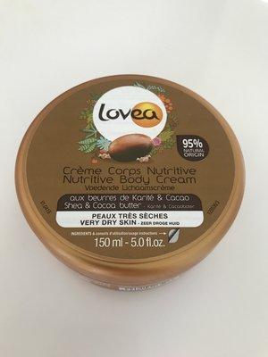 現貨Lovea Nature 大罐95%可可乳油木滋潤霜150ml