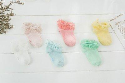 ❤現貨G012❤女童 蕾絲花邊襪 卓上棉品 童襪可愛糖果色襪 短襪 蕾絲襪(西紅色/白色)