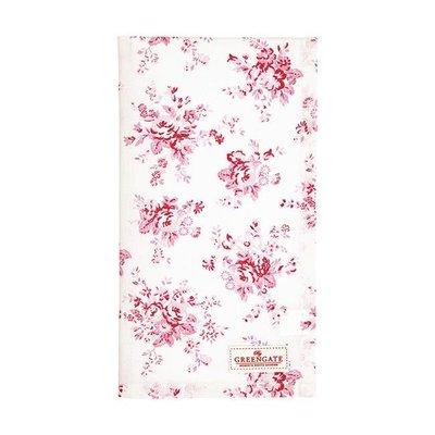 GreenGate Tea Towel Abelone Raspberry
