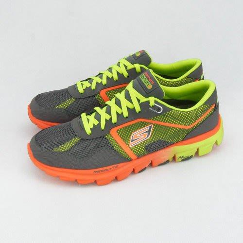 利卡夢鞋園–skechers 超輕量慢跑鞋--GO run ride--灰螢橘--53539CCLM--男