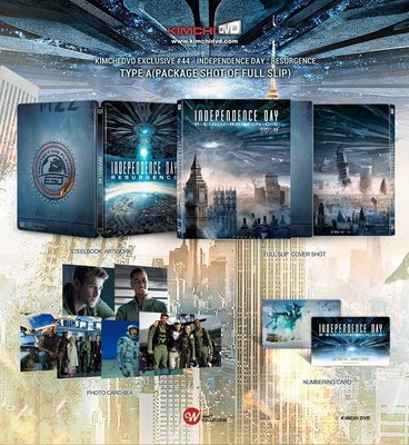 毛毛小舖--藍光BD ID4:星際重生 3D+2D 全紙盒限量鐵盒版 Independence Day