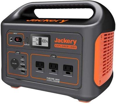 【竭力萊姆】全新現貨開發票 Jackery Explorer 1000 家庭用行動電源 1000W 功率 PD 快充