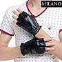 半指手套真皮手套-羊皮健身駕駛保暖男性時尚配件72g23[獨家進口][米蘭精品]