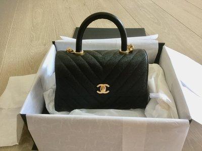 [全新真品] Chanel Coco Handle 荔枝皮金釦 mini款 訂金