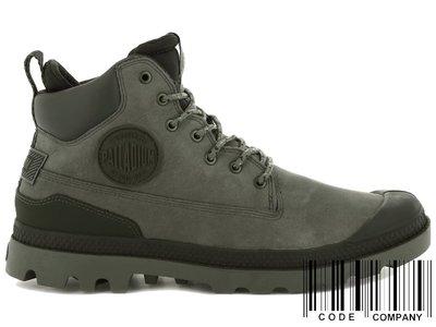 =CodE= PALLADIUM PAMPA SC OUTSIDER WP+ 防水皮革軍靴(灰綠)76472-065 女