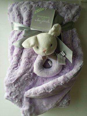 【美國品牌】100%全新正品 嬰幼兒 輕柔舒眠 極柔絨毯/ 毛毯/ 抱毯/ 萬用毯 冷氣房可用 彌月禮 二件組BAB14