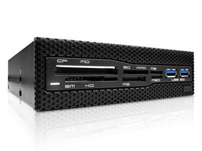 光華CUMA散熱精品*NZXT (Aperture M)白光LED 網狀面板設計USB 3.0 複合式讀卡機~現貨