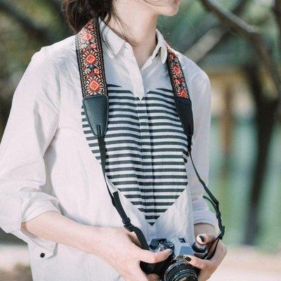 TARION民族風單反微單相機肩帶復古文藝拍立得肩帶通用可調節背帶