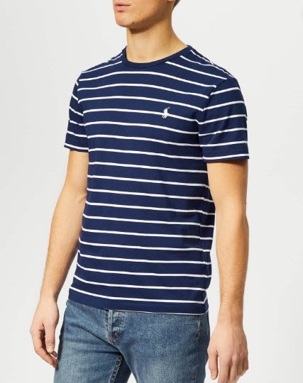 POLO Ralph Lauren  小馬 短袖  T恤 成人款 藍/白條紋