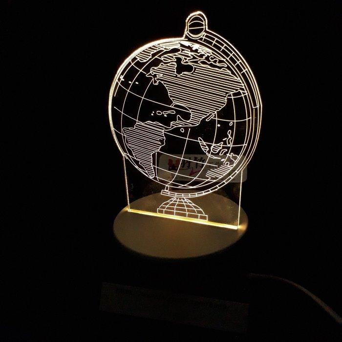 現貨 LED小夜燈 三光源-地球儀