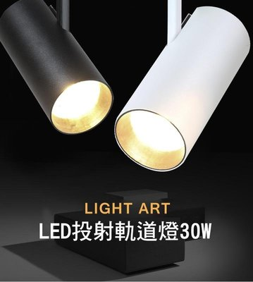 *Phone寶*LED軌道燈 COB晶片 投射燈 220V 30W 特價出清