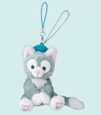 【日本迪士尼代購】Duffy達菲熊的好朋友 Gelatoni 傑拉東尼 畫家貓 坐姿絨毛娃娃吊飾 (預購)
