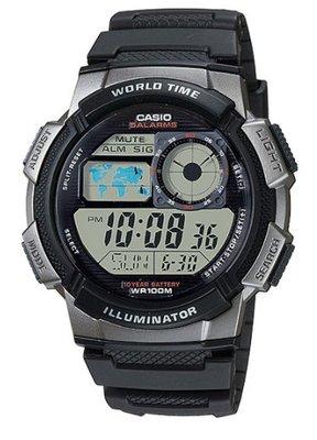 CASIO  10年電池  世界城市野外風格概念錶  AE-1000W-1B 台北市