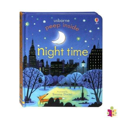 [文閲原版]尤斯伯恩偷偷看里面 夜間 英文原版 繪本 英文版 peep inside night time 兒童寶寶英文英語繪本翻翻書