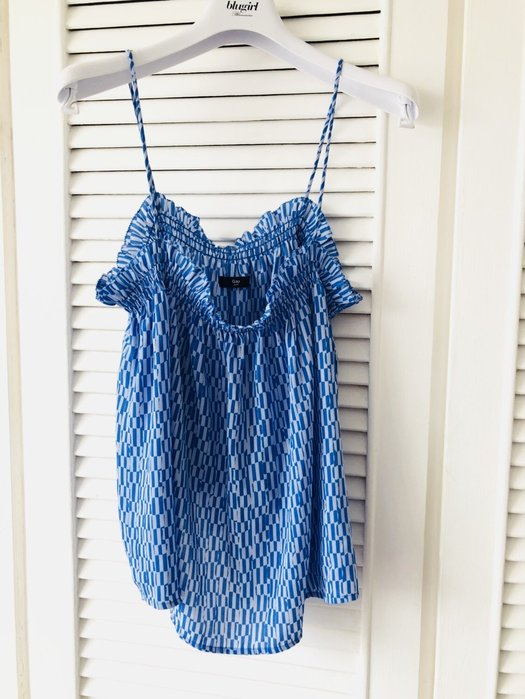 GAP 水藍色印花細肩帶上衣