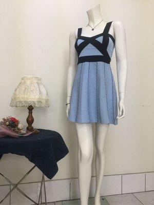 實拍👏👍藍色性感小洋裝、有粉色