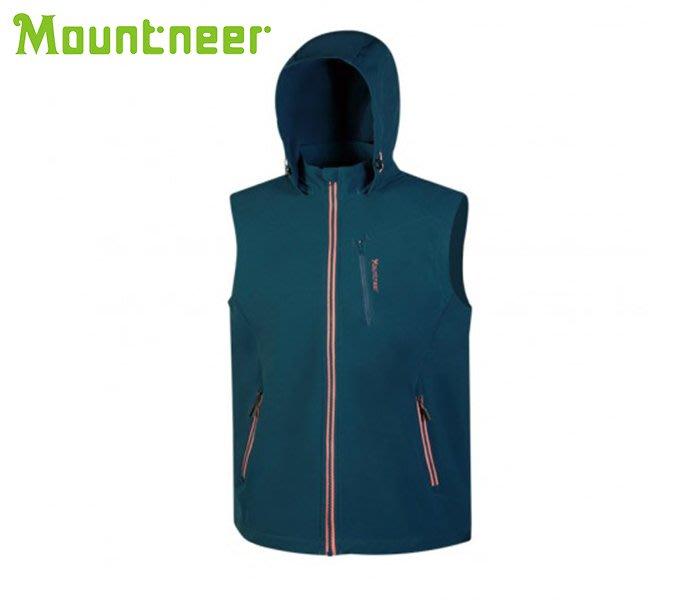 丹大戶外用品【Mountneer】山林休閒 男輕量防風SOFT SHELL背心 32V01-81海藍