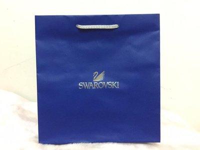 ~**粉紅魚兒**~ SWAROVSKI - 天鵝圖樣 簡約 LOGO 中紙袋 手提袋 ( 23x24x11 )