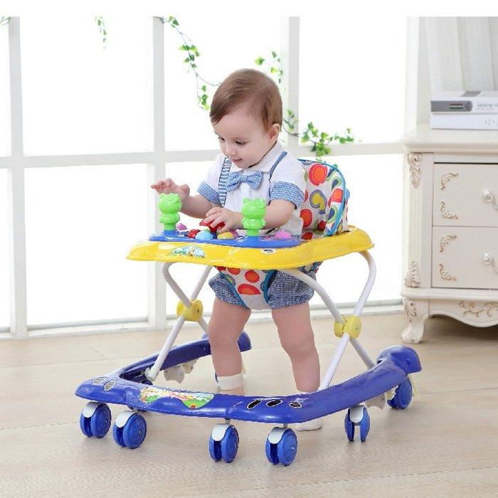 寶寶嬰兒童學步車6/7-18個月u型多功能防側翻手推車可摺疊帶音樂禮物