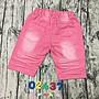 02437女大童(120-165cm)彈力五分褲 短褲(粉色、牛仔藍)小魚衣鋪 02438