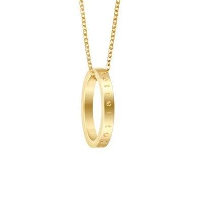 MANTRABAND 美國悄悄話戒指 Better Together 金色戒指 最好在一起 附項鍊