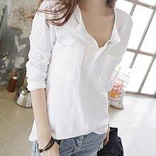 韓系 韓版S-2XL/百搭長袖短袖T恤上衣 休閒衫v領竹節棉寬鬆休閒打底衫上衣T305