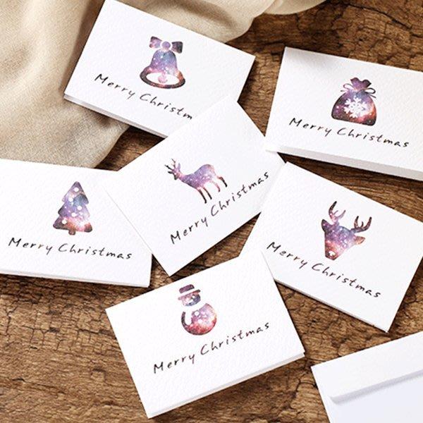 聖誕節迷你星空底節慶圖案卡片(附信封)【XM0203】《Jami Honey》