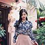 韓國復古花朵🌺雪紡衫 qwa019