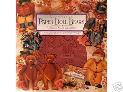 陽光一品DIY卡片印章專賣店~RS盒裝海綿印章組--泰迪熊紙娃娃#951.13# ~美國製絕版品