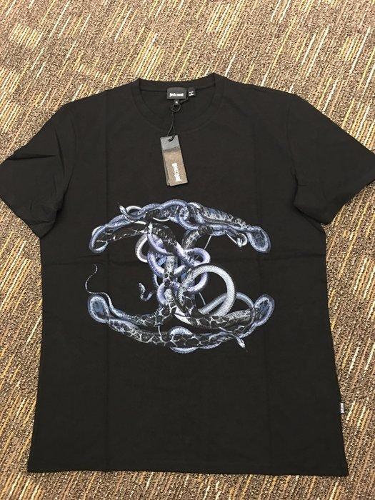 喬瑟芬【Just Cavalli】特價$4000~2015春夏 Snake Logo  棉質 T 恤