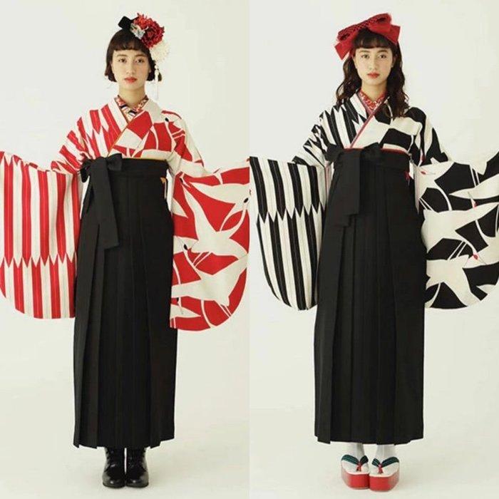 03日本和服女士二尺袖浴衣著物復古正裝傳統成人畢業禮和風寫真旅拍
