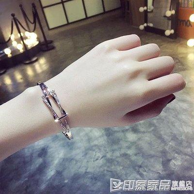 手鐲潮街頭風歐美日韓版水晶甜美簡約飾品首飾學生手錬女