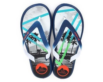 體育課  Rider ri8202423699(藍橘黑)巴西涼拖鞋 機能夾腳拖 時尚機能 下雨天 沙灘人字拖 享樂生活